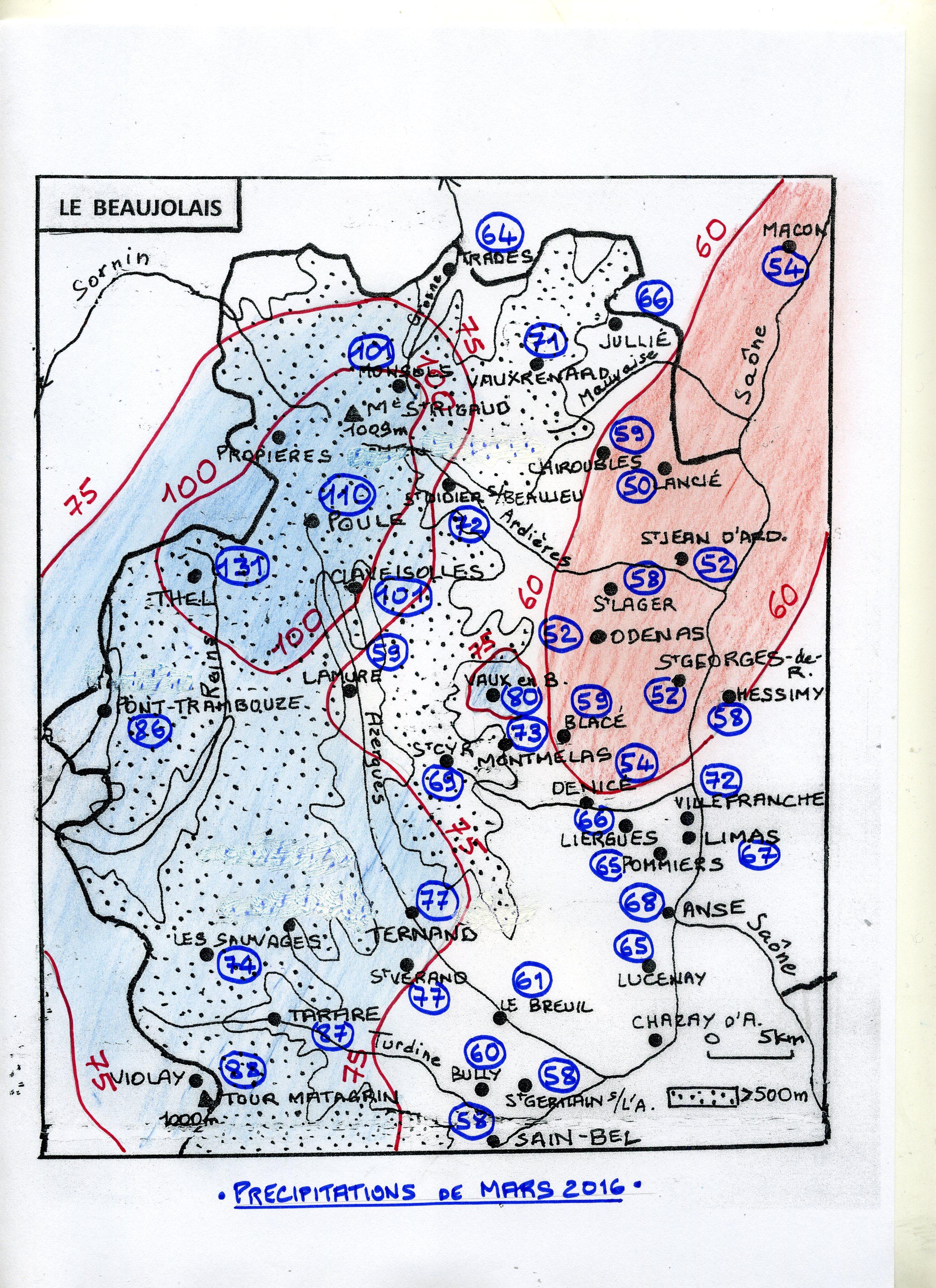 Carte Pluvio Beaujolais MARS 2016 002